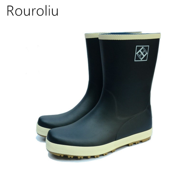 Aliexpress.com : Buy New 2017 Women Fashion Rubber Rain Boots Mid ...