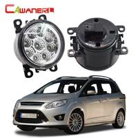 Cawanerl 2 X Car LED Bulb Fog Light Daytime Running Light DRL 12V High Power For