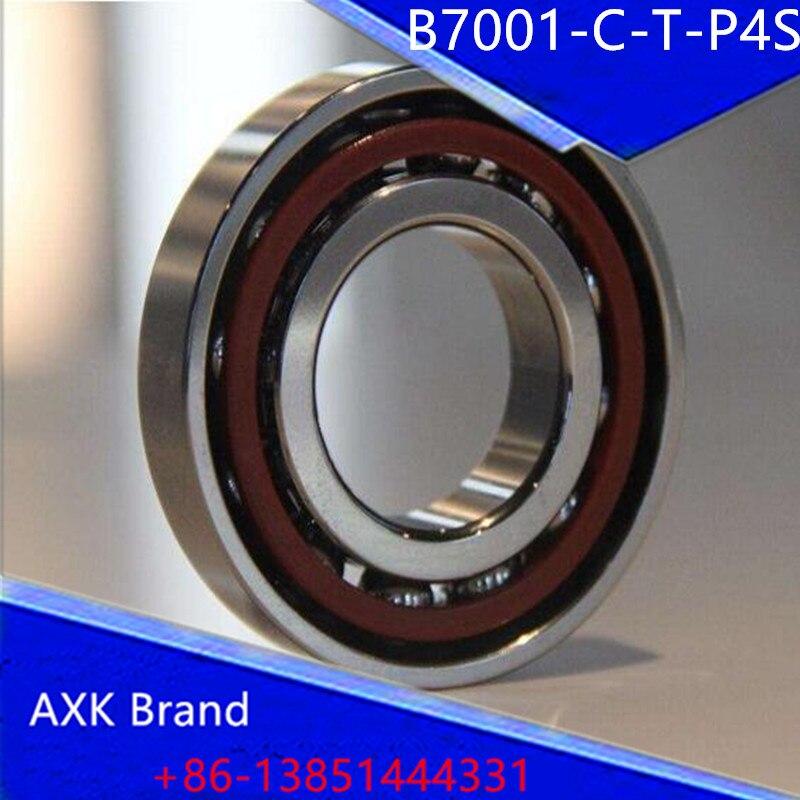 Bearings B7001-C-T-P4S 7001 7001C 36101 46101 P4 ABEC 7 Spindle bearings are single row angular contact ball bearings 1pcs 71901 71901cd p4 7901 12x24x6 mochu thin walled miniature angular contact bearings speed spindle bearings cnc abec 7