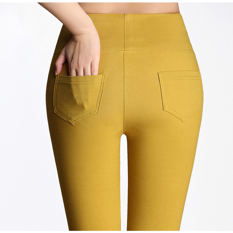 15 candy colour women pants plus size 5XL 6XL high waist stretch pencil pants skinny casual cotton leggings female trousers