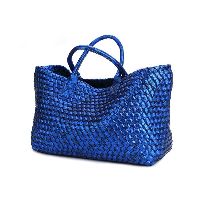 купить Latest Women Weave Suede Split Leather Handbag Female Leisure Casual Lady Shoulder Bag  Top-handle Bags Sac Shopping bag по цене 3518.65 рублей