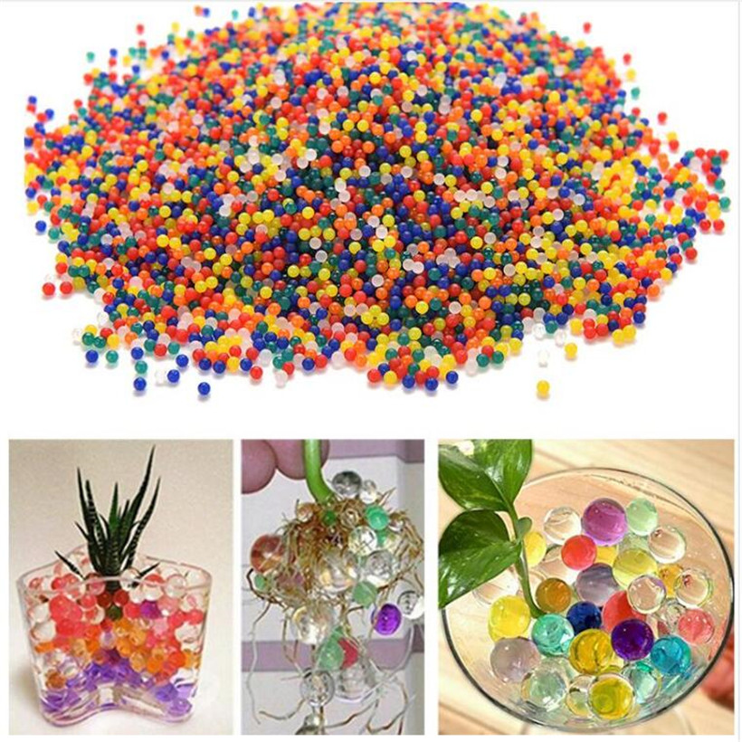 5 bag/ 40 g/bag colored orbeez soft crystal water paintball gun bullet grow water beads grow balls water gun airsoft pistol