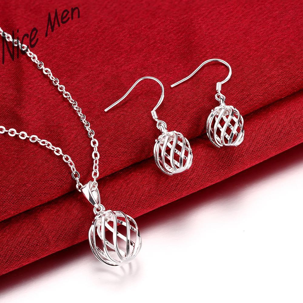Unique Balls chorker necklace earrings set CS793 2015 bulk sale silver gifts for bridal  ...