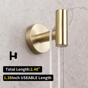 Bathroom Brushed Gold 3-Piece Accessories Set SUS304 Stainless Steel Bath Accessories set (paper holder  towel ring robe hook) 6
