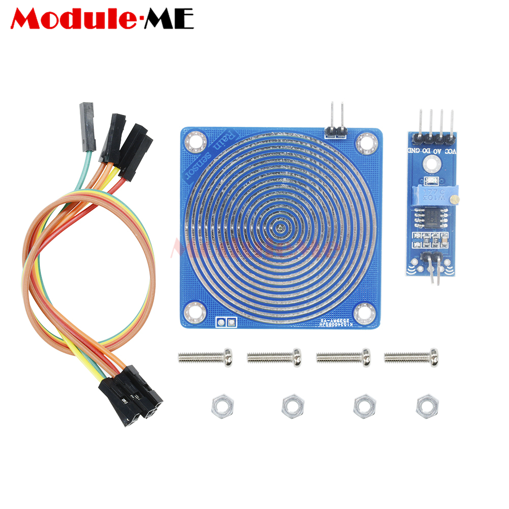 Humidity Detection Sensor Module Snow Rain Raindrops 33 V Detector Circuit Schematic Diagram To 5 For Arduino In Integrated Circuits From Electronic Components Supplies On