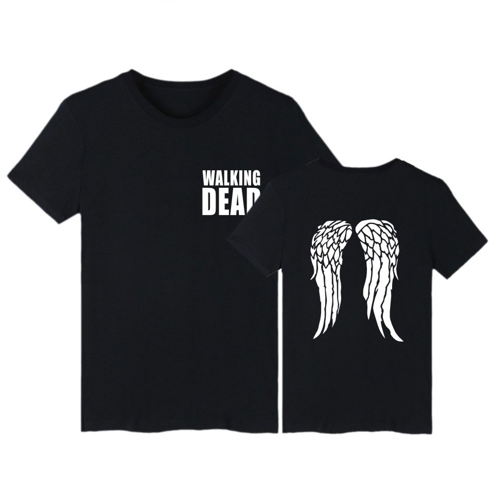 The Walking Dead Men T Shirt Size XXS To 4XL Good Quality Tee Shirt Brand Short Sleeve Clothes Hiphop Style