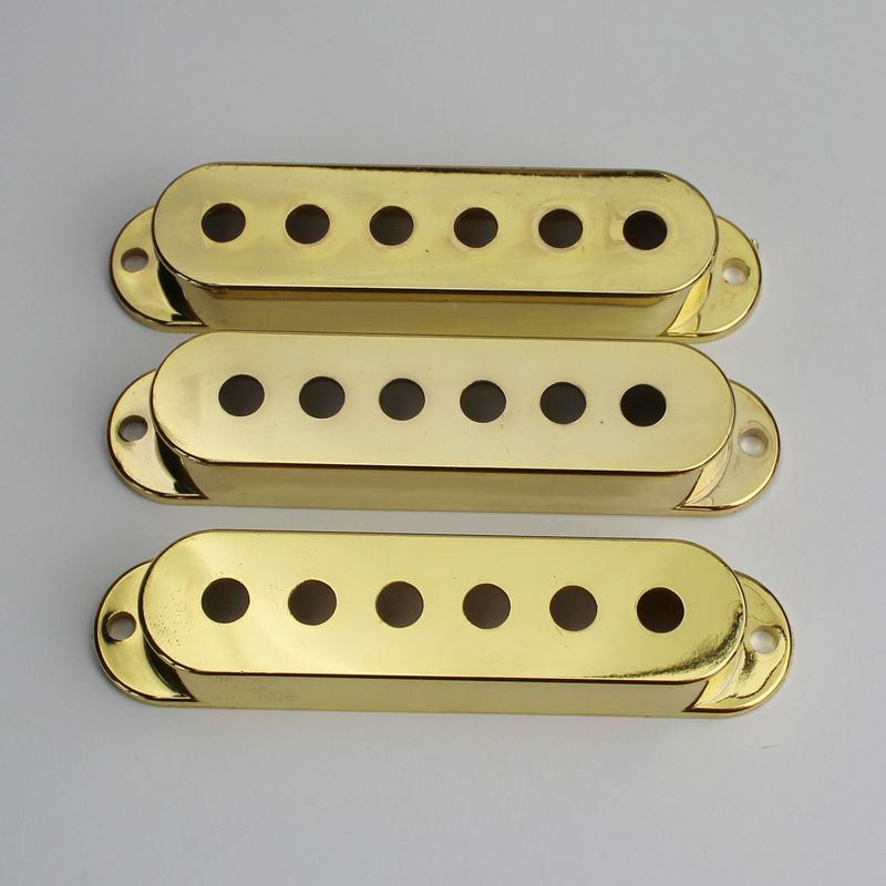 Stratocaster 50mm Pole Spacing Single Coil Pickup Cover Set of 3 Choose Colour