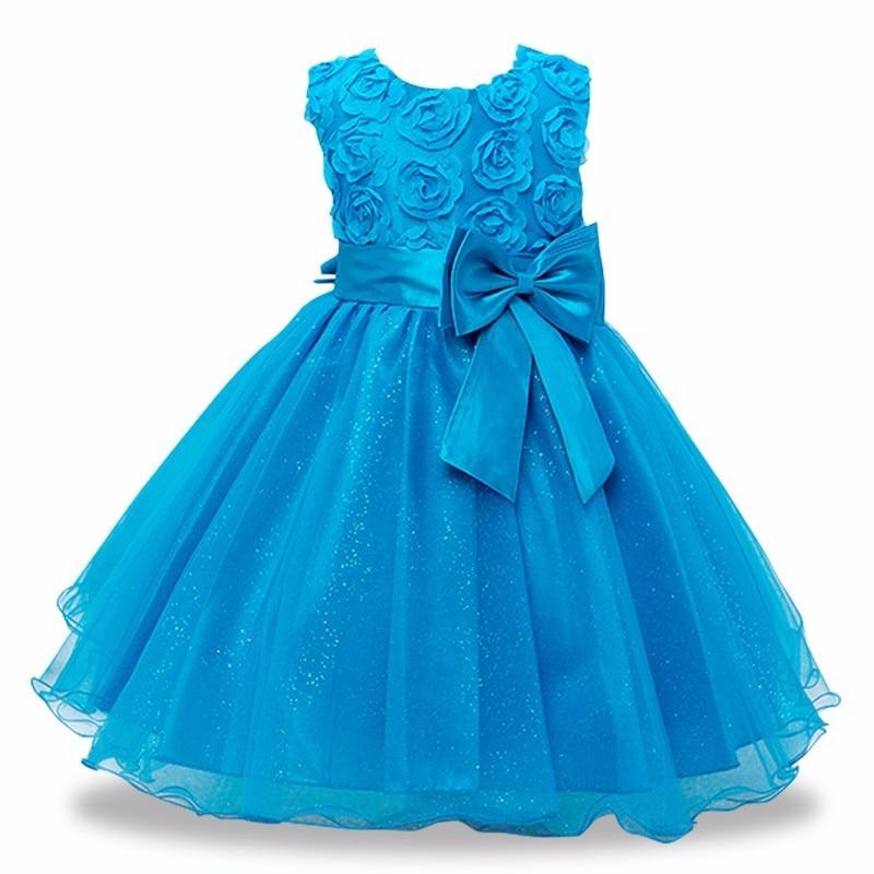 girls dress-blue