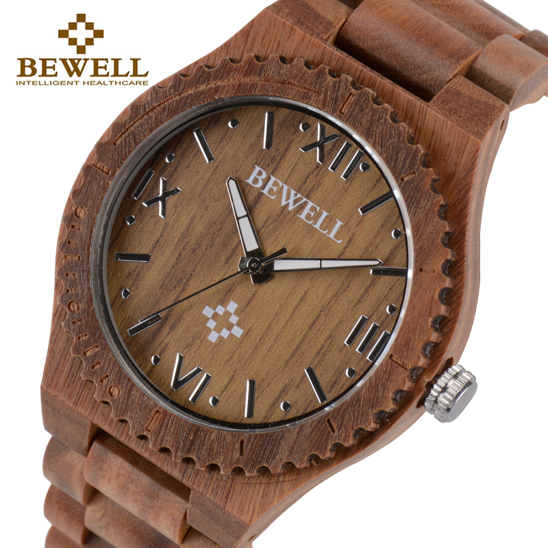 BEWELL Wooden Watch for Man Quartz Watch Men Women Wrist Watches 2018 Brand Luxury Wristwatch Relogio Masculino Gift Box 065A bewell wood watch men wooden fashion vintage men watches top brand luxury quartz watch relogio masculino with paper box 127a