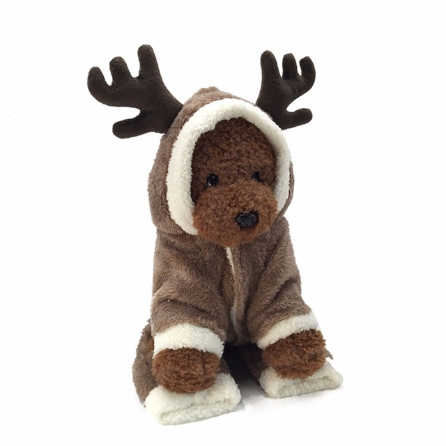 4 gambe di Cotone Pet Vestiti Del Cane Carino Alce di Stile Caldo di Inverno Pic
