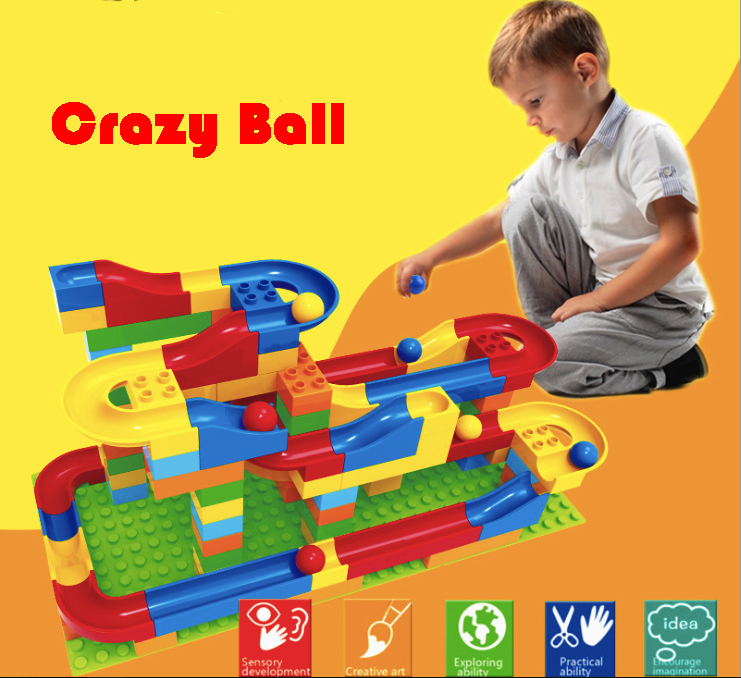3D Maze Rolling Ball Rail DIY Toy Building Block Early Children Birthday Present Educational Intelligence Creative Plaything spacerail diy physics space ball rollercoaster with powered elevator 32000mm rail