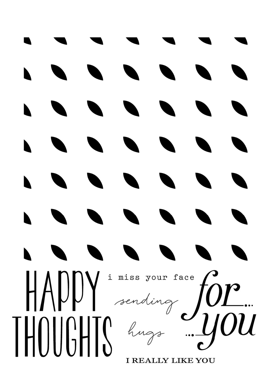 HAPPY THOUGHT BACKGROUND Clear Silicone Rubber Stamp for DIY scrapbooking/photo album Decorative craft