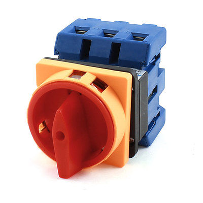 AC 600V 100A Rotary Selector 2 Position 6 Terminal Changeover Combination Switch chiaro подвесная люстра паула 411011605