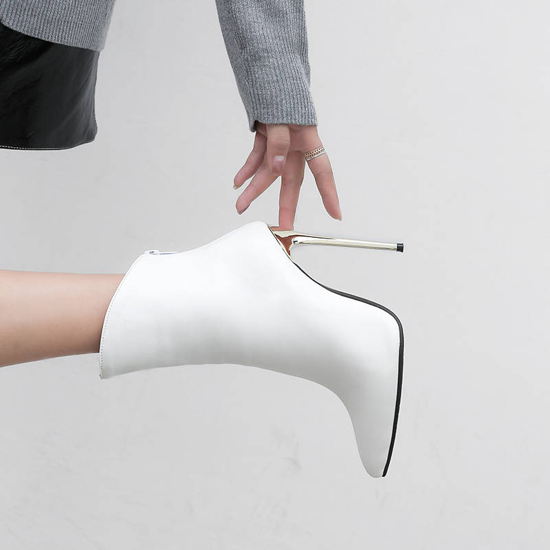 Image 5 - MORAZORA/Новинка 2020 года; ботильоны для женщин с острым носком; сезон осень зима; пикантные ботинки на высоком каблуке; модная женская обувь для вечеринок-in Полусапожки from Обувь