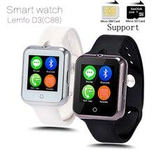 Smart watch c88 herzfrequenz kamera uhr android reloj sync notifier montre connecter bluetooth smartwatch unterstützung sim tf karte