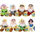 """Белоснежка принцесса и 8 """" семь гномов мягкие плюшевые куклы игрушечный комплект ( 8 шт. комплект )"""