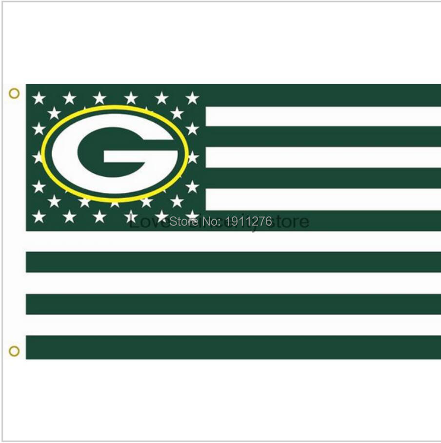 Green Bay Packers 3 X 5 Titletown Usa Flag