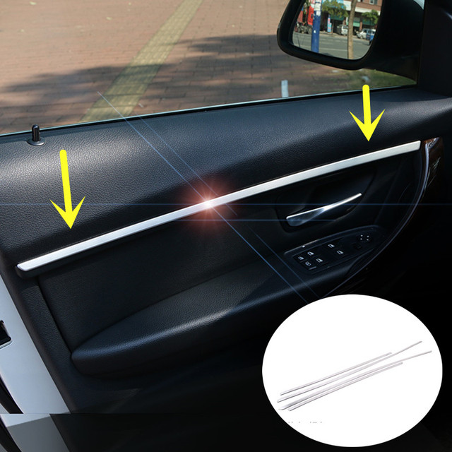 US $45 88 |Aliexpress com : Buy For BMW 3 Series F35 320i 328i Inner Car  Door Moulding Cover Trim 2013 2015 4pcs ( Only fit for long wheelbase )  from