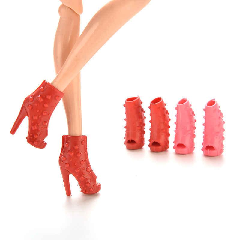 10 пар, Модные Цветные аксессуары для кукол, обувь с открытым носком, сандалии на каблуке для кукол, лучший подарок для девочек, детские игрушки