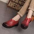 Личность Карп Украшения Ручной Работы Vintage женская обувь Из Натуральной Кожи Женщина Мокасины Мягкая Подошва Удобная Обувь Квартиры