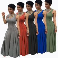 High Quality Big Size S XXXL Elegant Formal Evening Party Dresses Sexy Plus Size Sleeveless Long