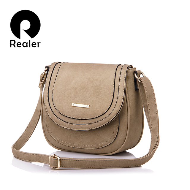 Realer Spring Summer Small Simple Solid Messenger Bags Famous Brand Women Crossbody Shoulder Bag For Ladies 5 Colors
