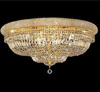 Phube освещения империи Золотой Кристалл Потолочный светильник Роскошные K9 кристалл освещение потолочный светильник блеск Бесплатная доста