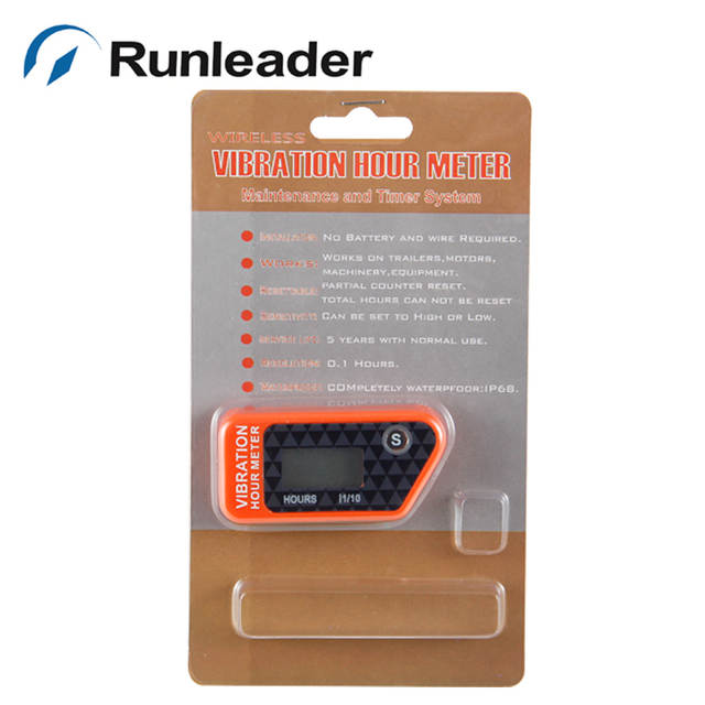 US $20 21 24% OFF RL HM016B Reset Wireless Vibration Hour Meter For Any  Device boat jet ski tractor motorcycle buggy go cart marine dirt quad  bike-in