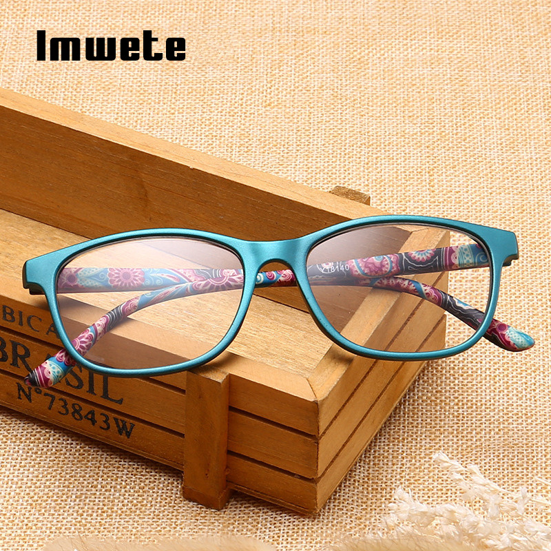 Imwete Ultralight Reading Glasses Men Women Unbreakable Glasses High-definition Resin Glasses  Presbyopic Prescription Eyewear