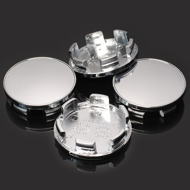 Image 4 - 4PCS Modified 54MM(53.5mm) fit 50mm Logo Car Hub Cover Car Wheel Center Cap Rim Ring Decorative Hubcap Chrome Silver ABS Plastic-in Wheel Center Caps from Automobiles & Motorcycles