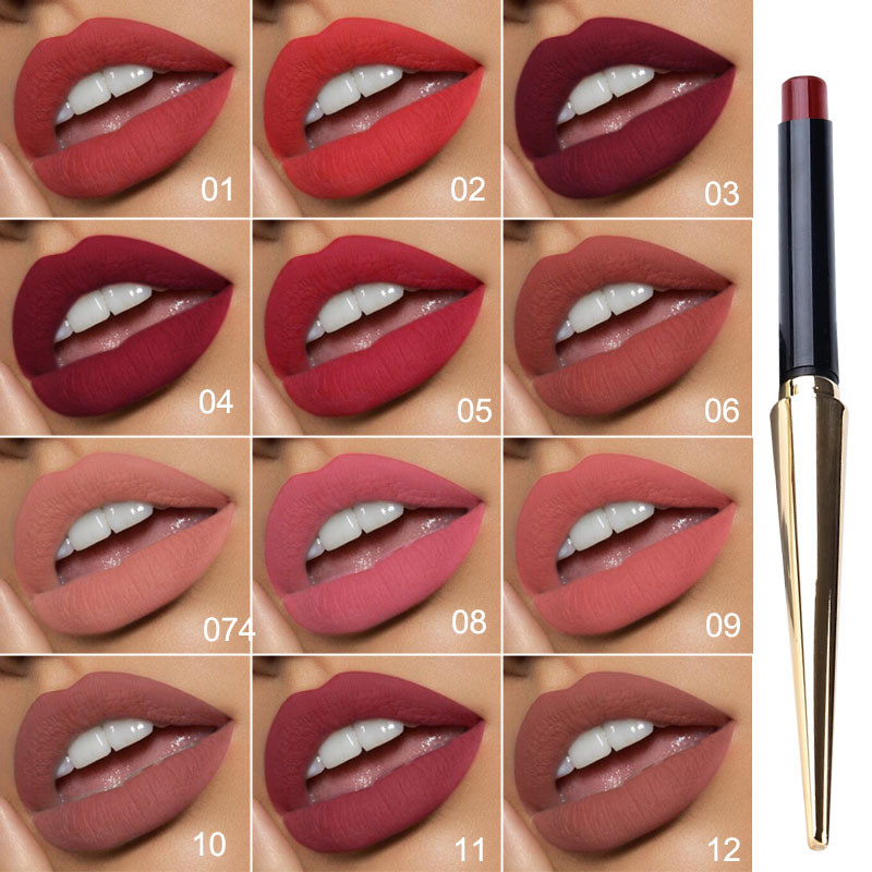 Brand New 12 Colors Matte Bullet Head Lipstick