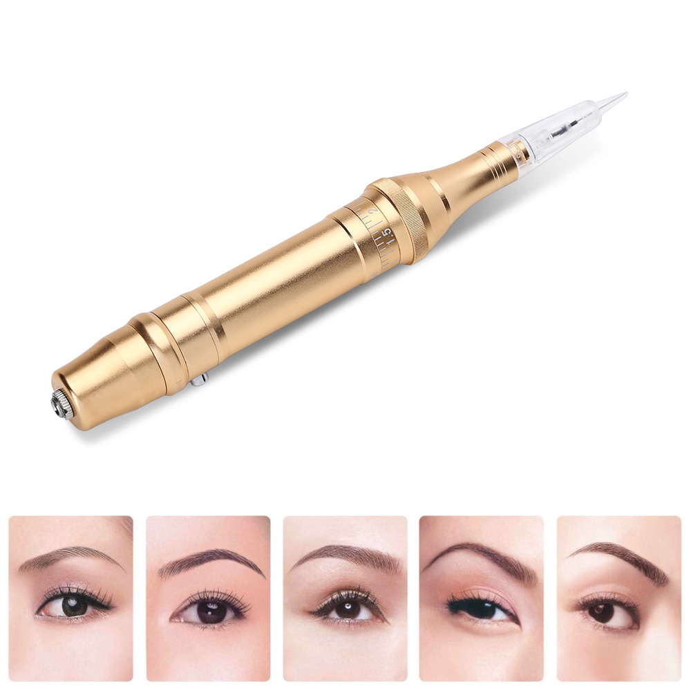 New Professional Electric Tattoo Pen 5 Needles Tattoo Machine Permanent Makeup Automatically Machine for Eyebrow Lip Eyeliner 35000r import permanent makeup machine best tattoo makeup eyebrow lips machine pen
