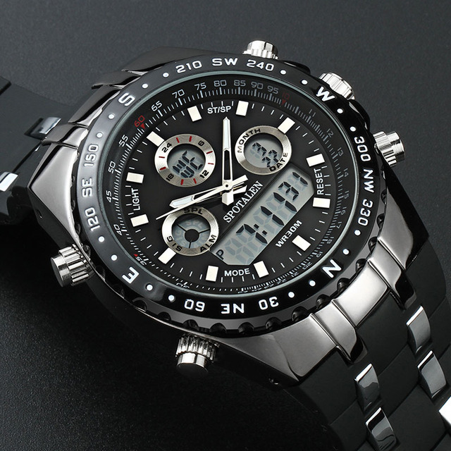 SPOTALEN Sport Military Men Digital Watch Army Clock Male Brand Waterproof Wrist Watches LED Electronic Watch relogio masculino