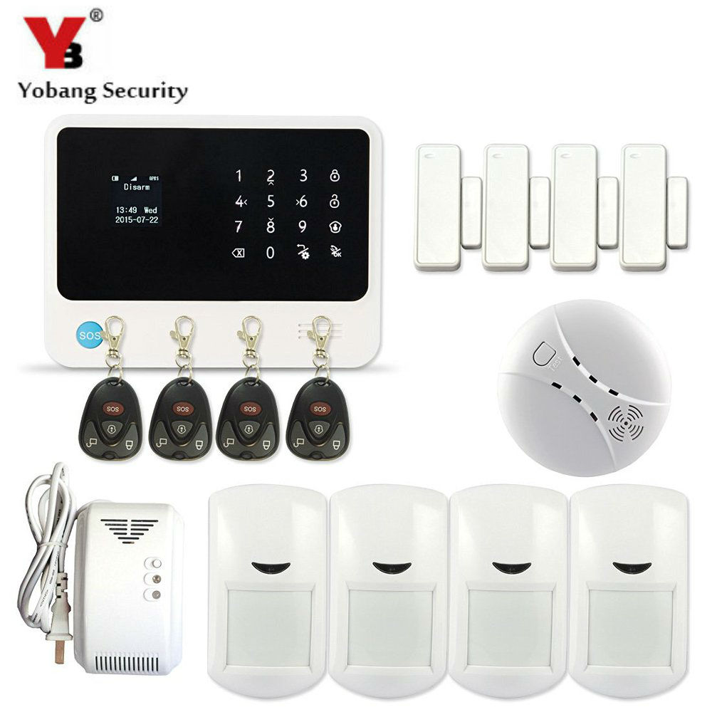 YobangSecurity G90B Security Alarm System WIFI Alarm System G90B Smoke Fire Sensor Gas Leakage Detector APP Contol free shipping wireless smoke detector fire alarm sensor work with g90b plug wifi smart home alarm system