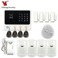 Yobangsecurity g90b Охранной Сигнализации Системы WI FI сигнализации Системы g90b Дым пожарный Сенсор детектор утечки газа приложение Contol