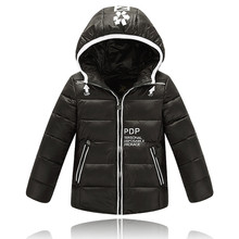 Keep Warm Down Coat for Boys PDP Winter Jackets Boys Zipper Letter Girls Winter Coat Doudoune