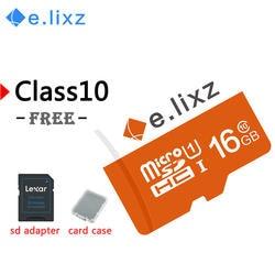 E. lixz реальная емкость Micro SD карта 8 Гб 16 Гб класс 10 карта памяти 32 Гб 64 ГБ TF флеш-карта памяти и бесплатный подарок адаптер