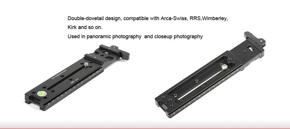 SUNWAYFOTO DMP-200L головка штатива быстросъемная пластина для штатива DSLR пластина Узловая горка с рычажным зажимом пластина штатива