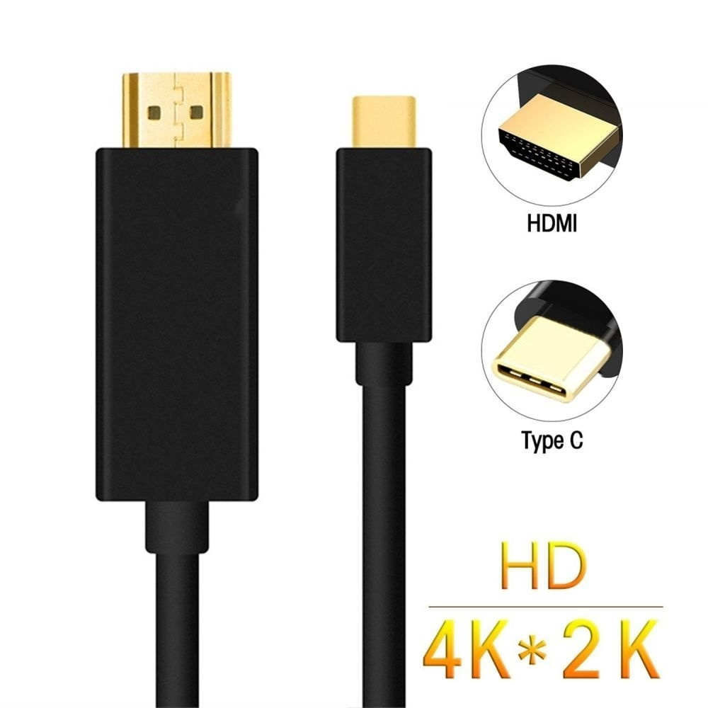 1PCS 1.8M USB C Cable Type C To HDMI Cable HDTV 4K HDTV Adapter Cable USB 3.1 USB C To HDTV For Macbook