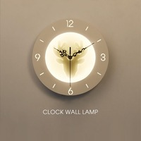 9 5inch Bedroom Bedside LED Wall Lamp Deer Butterfly Clock Sconce Lights Hanging Lamp Bed Designs