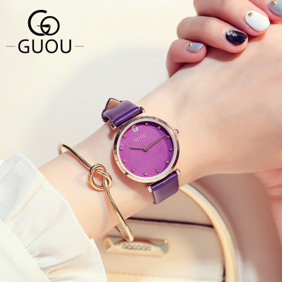 купить New Brand Fashion Watch Women Simple Elegant Style reloj mujer Leather Strap Small Dial Casual Quartz Watch Ladies Popular Clock по цене 3156.11 рублей