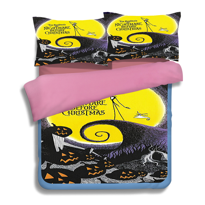 Halloween The Nightmare before Christmas Bedding Sets Cartoon 3D Printed Duvet Covers Single Twin Full Queen Size Girls Bedroom