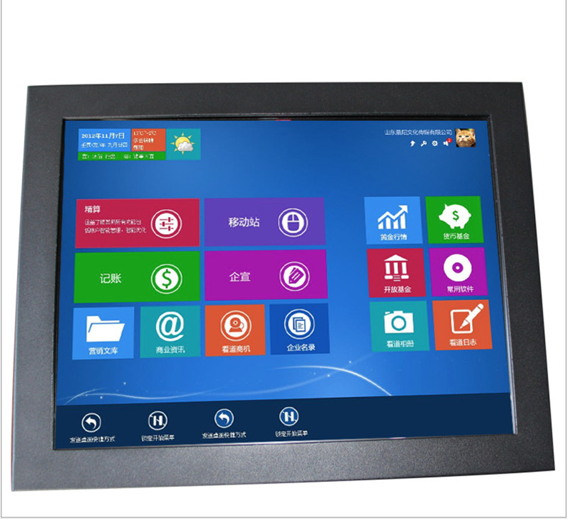 Factory Direct Sale Dual Core 3217U High Brightness Industrial Computer 19 Inch All In One Touch Screen Pc