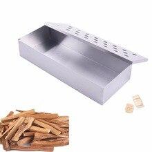 Инструменты для Барбекю Деревянные чипы коптильница коробка для внутреннего уличного угля и газовый гриль для барбекю мясо заваренный дым колоритный аксессуар Smokerbox