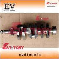 Для Mitsubishi генераторной установки двигателя L3E коленчатого вала кованой стали типа