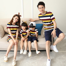Trendy Striped Family Cotton T-Shirts