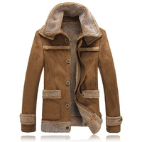 Winter Jackets Men Fur Collar Plus Velvet Thicker Mens Parka Thick Man Warm Winter Army Coat