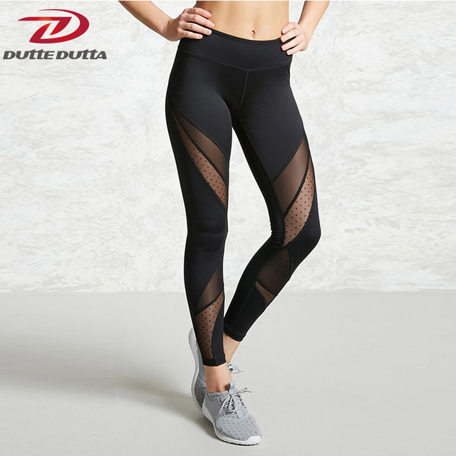 9e84ab8d8271d0 Sexy Tight Black Yoga Pants Women Clothing Sheer Mesh Spot Moto Athletic  Net Fitness Legging Running Sport Gym Spandex Trousers