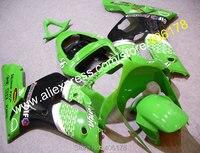 Hot Sales,For Kawasaki Ninja ZX6R 2003 2004 ZX-6R 03 04 ZX 6R 636 Green Motorcycle Parts Body Fairing Kit (Injection molding)