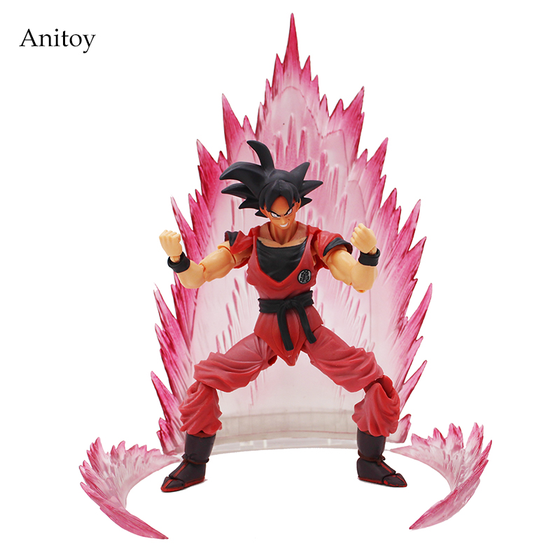 SHFiguarts Dragon Ball Z Son Gokou Goku Kaiohken Ver. PVC Action Figure Collectible Model Toy 16cm KT4229